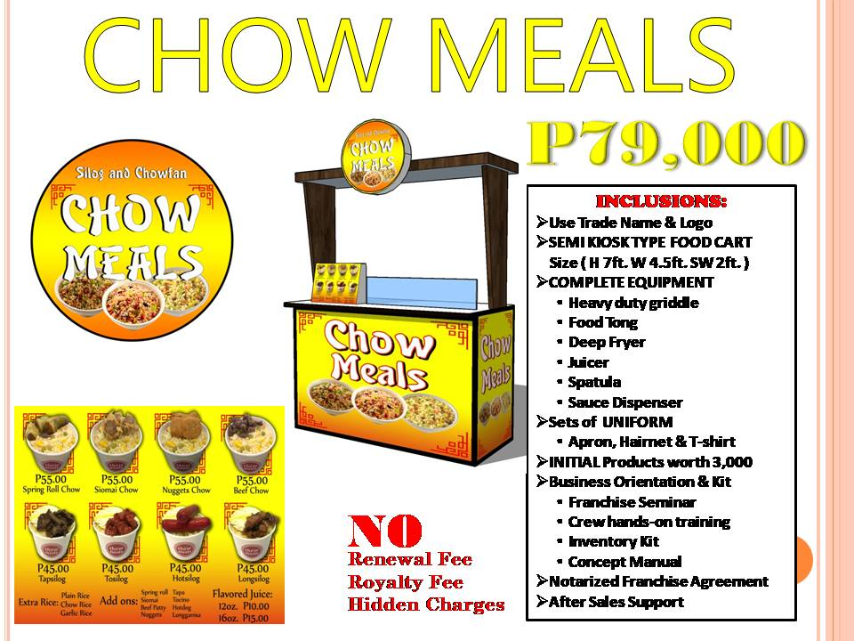 Chow Meals Food Cart Franchise