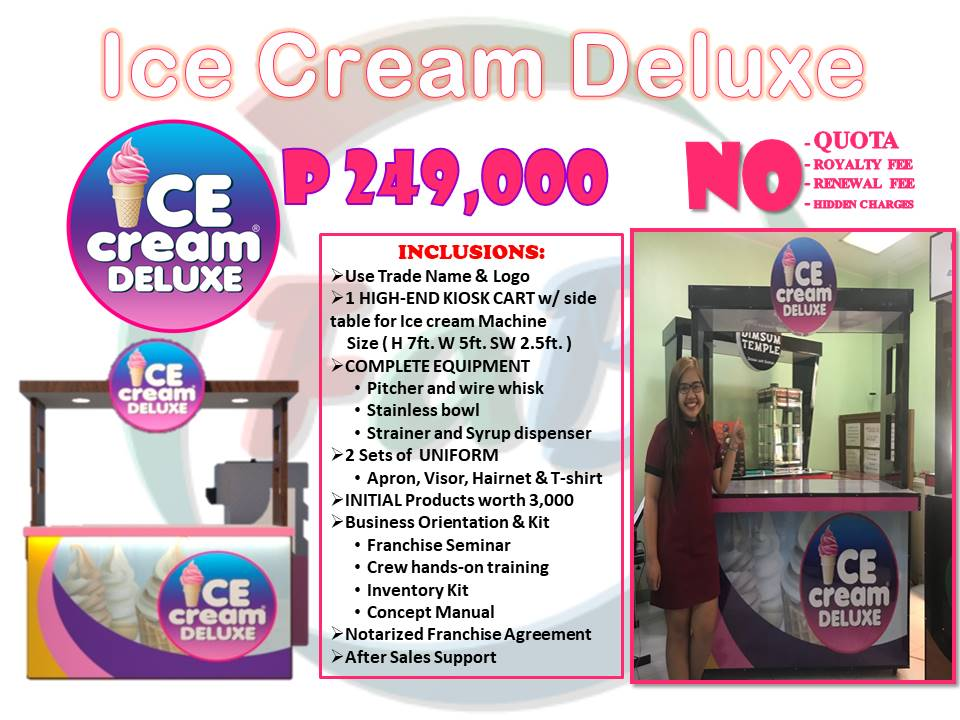 ice cream deluxe food cart franchise