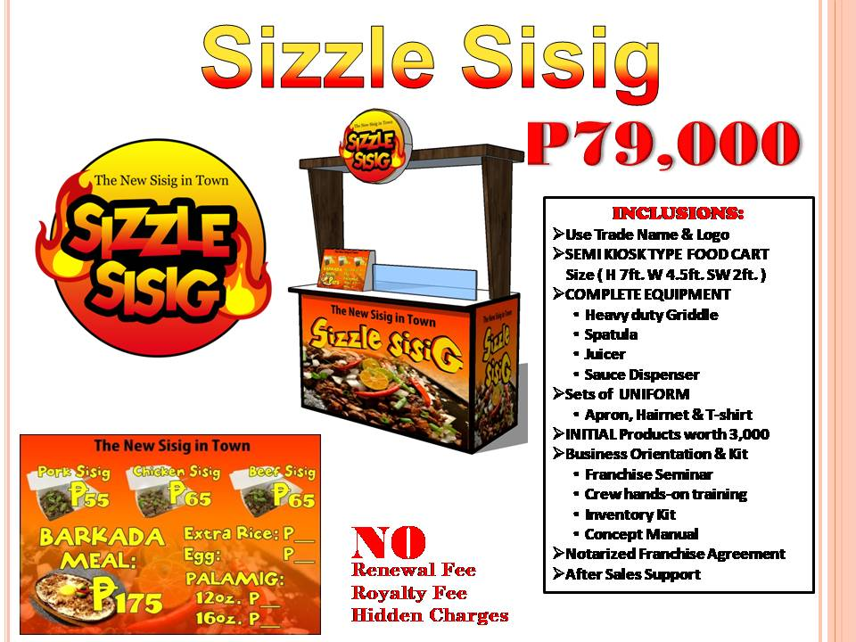Sizzle Sisig Food Cart Franchise