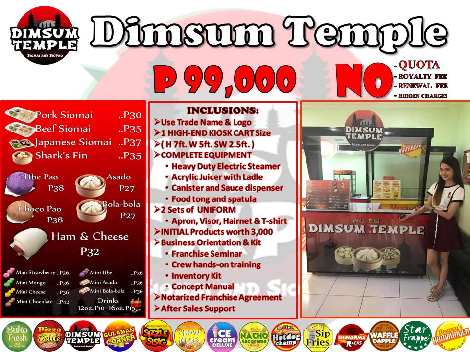 Dimsum Temple Franchise P99,000.00