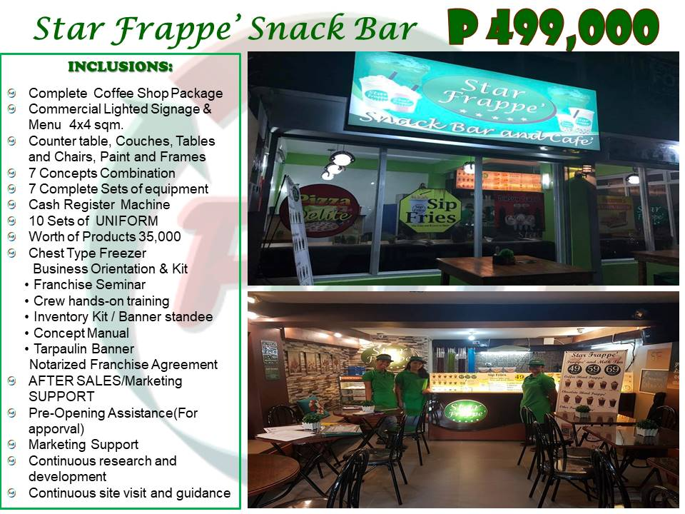 Star Frappe' Cafe' Franchise Philippines